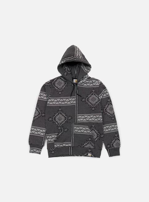 felpe carhartt assyut hooded sweatshirt assyut print black white