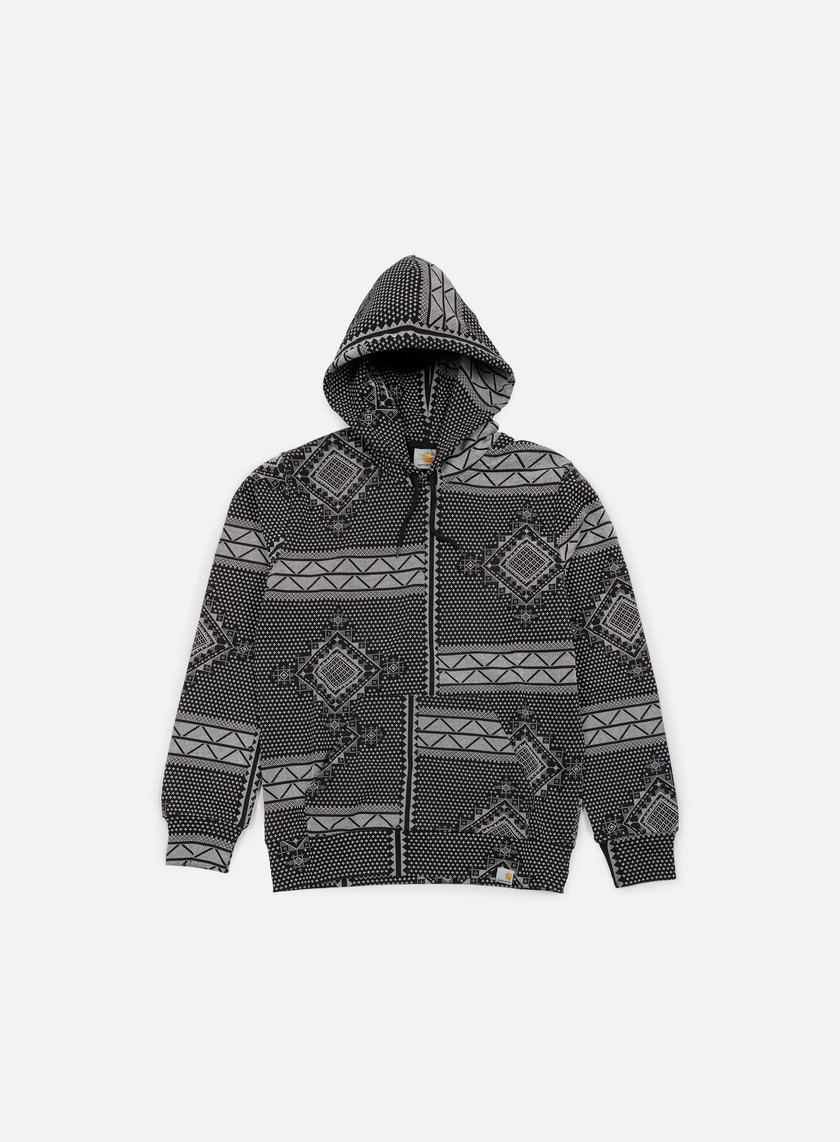 Carhartt - Assyut Hooded Sweatshirt, Assyut Print Black/White