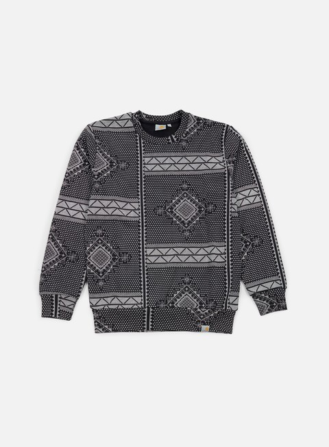 felpe carhartt assyut sweatshirt assyut print black white