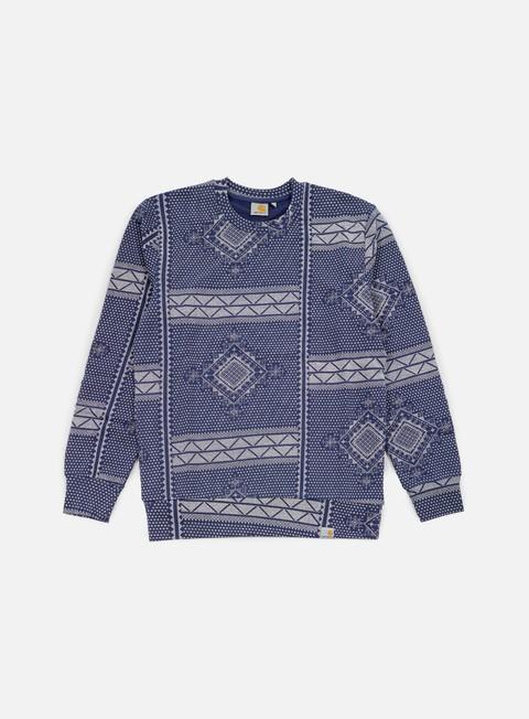 felpe carhartt assyut sweatshirt assyut print blue white
