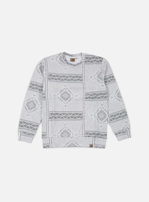 felpe carhartt assyut sweatshirt assyut print white black