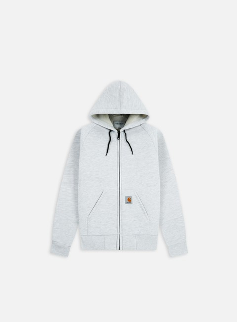 felpe carhartt car lux hooded jacket ash heather grey heather