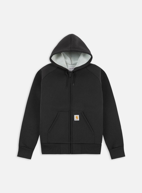 felpe carhartt car lux hooded jacket black grey