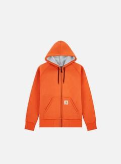 Carhartt - Car-Lux Hooded Jacket, Brick Orange/Gray