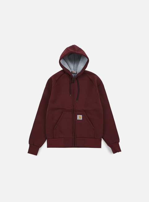 felpe carhartt car lux hooded jacket chianti
