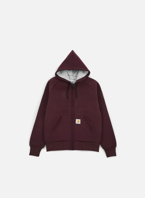 felpe carhartt car lux hooded jacket damson grey