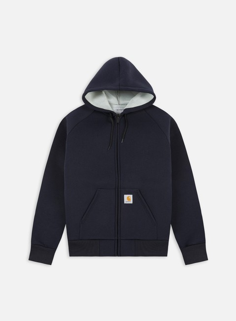 felpe carhartt car lux hooded jacket dark navy grey