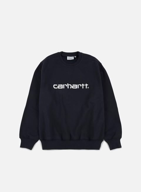 felpe carhartt carhartt sweatshirt dark navy wax