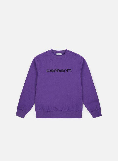 felpe carhartt carhartt sweatshirt frosted viola black