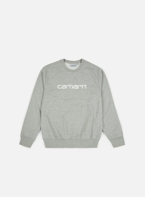 Felpe Logo Carhartt Carhartt Sweatshirt,Grey Heather/Wax