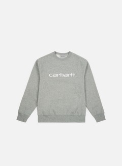 Carhartt - Carhartt Sweatshirt, Grey Heather/White