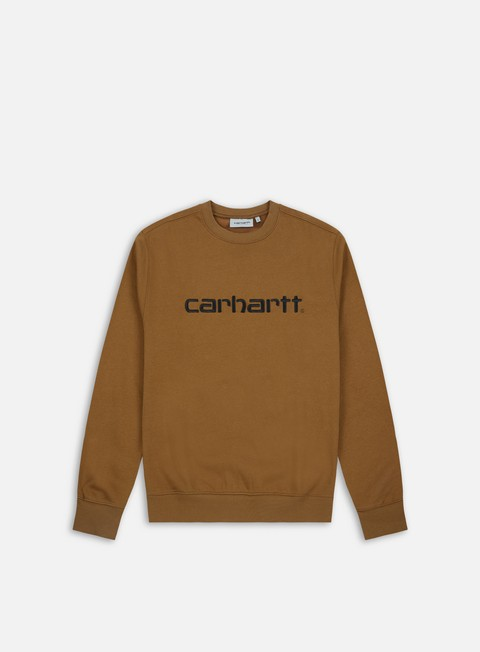 felpe carhartt carhartt sweatshirt hamilton brown black