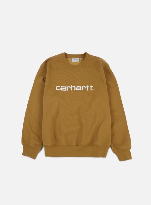 felpe carhartt carhartt sweatshirt hamilton brown wax