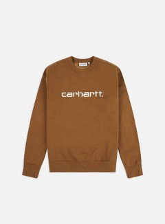 Carhartt - Carhartt Sweatshirt, Hamilton Brown/White