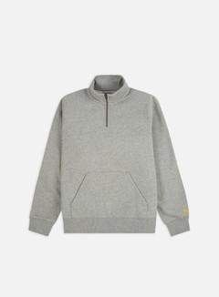 Carhartt - Chase Neck Zip Sweatshirt, Grey Heather/Gold