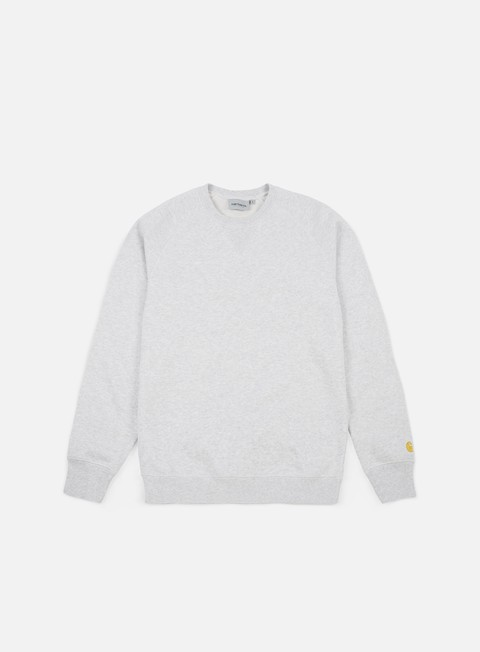 felpe carhartt chase sweatshirt ash heather