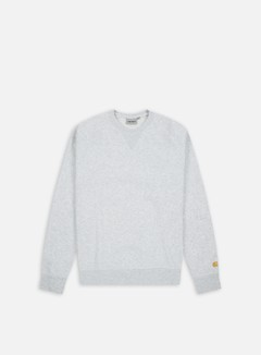 Carhartt - Chase Sweatshirt, Ash Heather/Gold