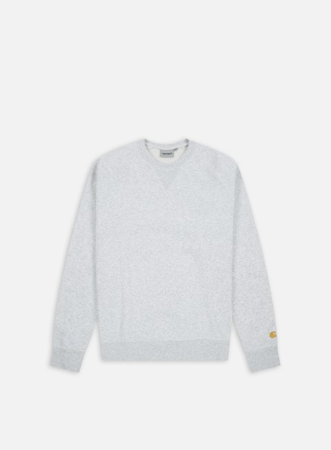 felpe carhartt chase sweatshirt ash heather gold