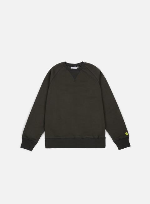 felpe carhartt chase sweatshirt asphalt gold