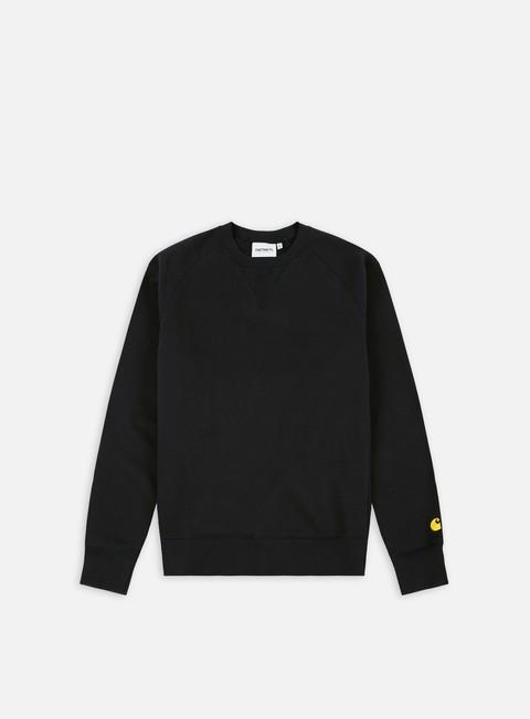 felpe carhartt chase sweatshirt black gold