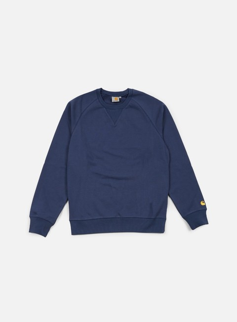 felpe carhartt chase sweatshirt blue