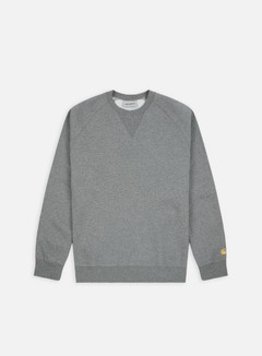Carhartt - Chase Sweatshirt, Dark Grey Heather/Gold