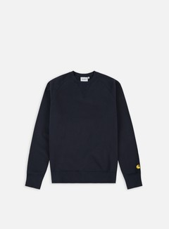 Carhartt - Chase Sweatshirt, Dark Navy/Gold