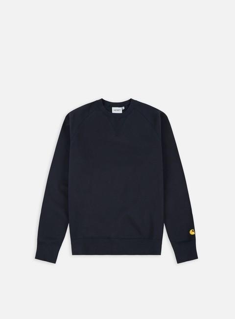 felpe carhartt chase sweatshirt dark navy gold