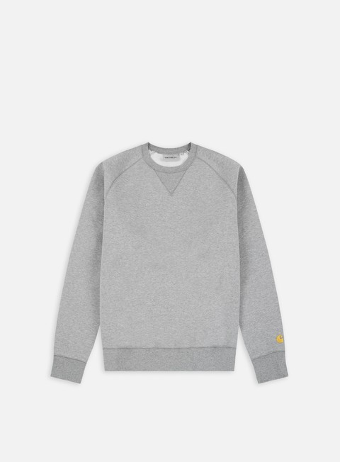 felpe carhartt chase sweatshirt grey heather