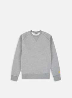 Carhartt - Chase Sweatshirt, Grey Heather/gold