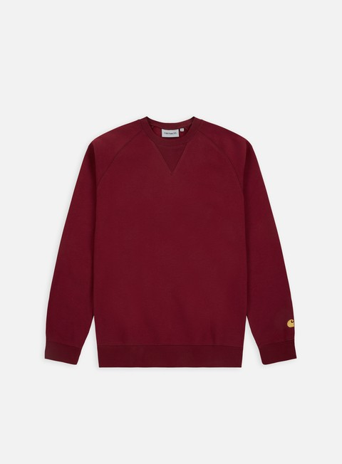 felpe carhartt chase sweatshirt mulberry gold