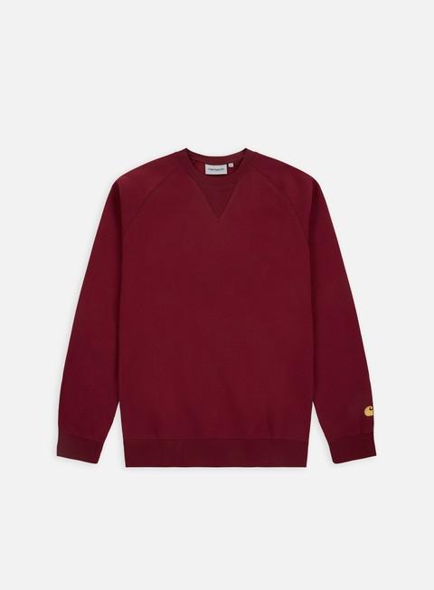 felpe carhartt chase sweatshirt mulberry gold