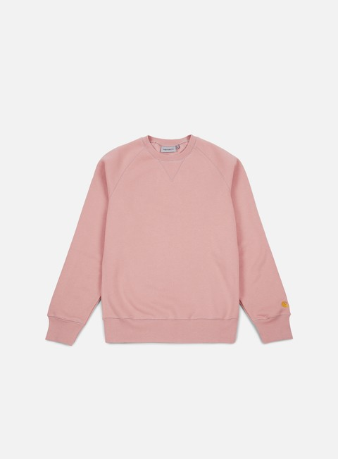 felpe carhartt chase sweatshirt soft rose gold
