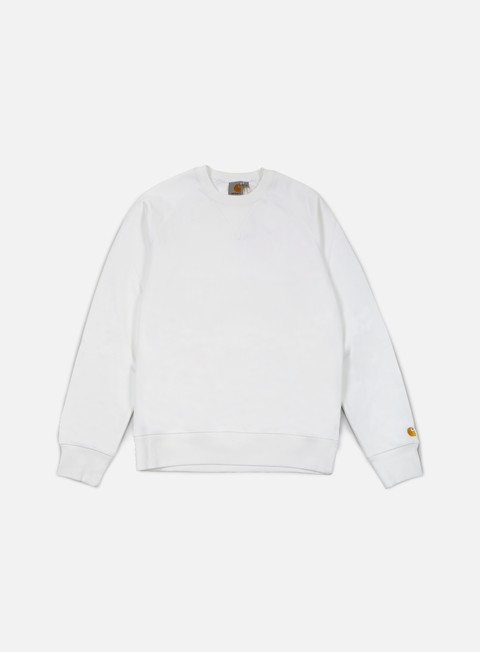 felpe carhartt chase sweatshirt white