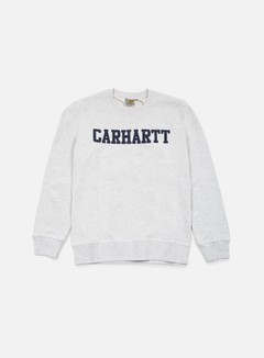 Carhartt - College Sweatshirt, Ash Heather/Blue 1