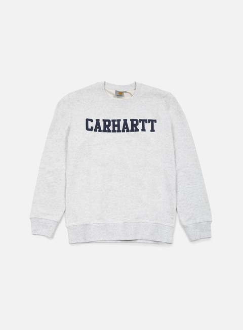 felpe carhartt college sweatshirt ash heather blue