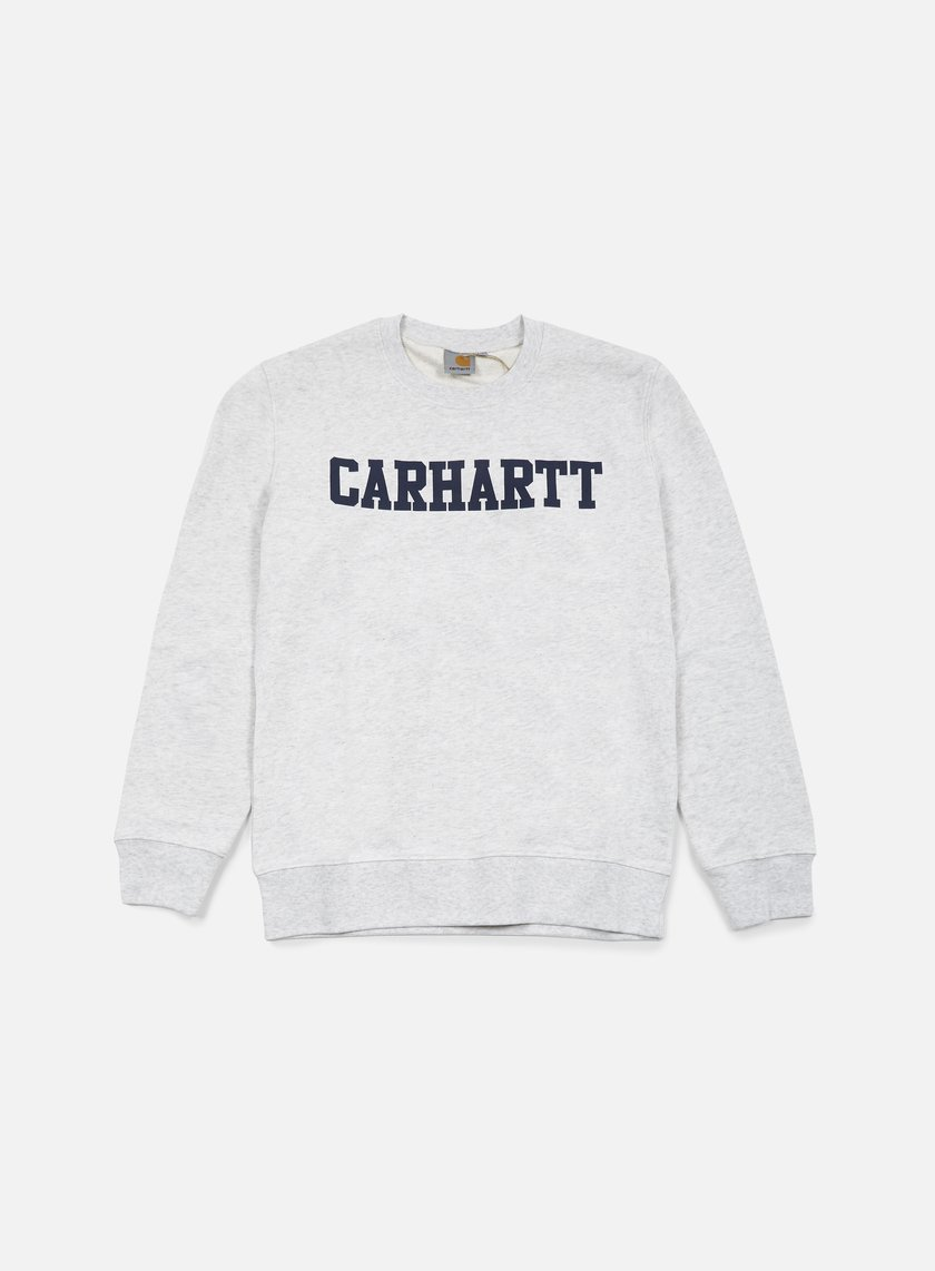 Carhartt - College Sweatshirt, Ash Heather/Blue