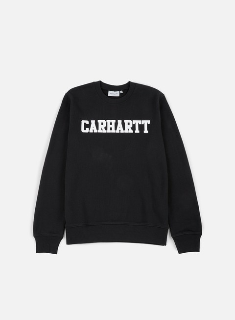 felpe carhartt college sweatshirt black white