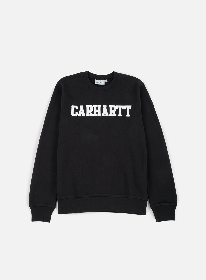Carhartt - College Sweatshirt, Black/White
