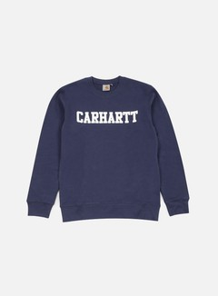 Carhartt - College Sweatshirt, Blue/White