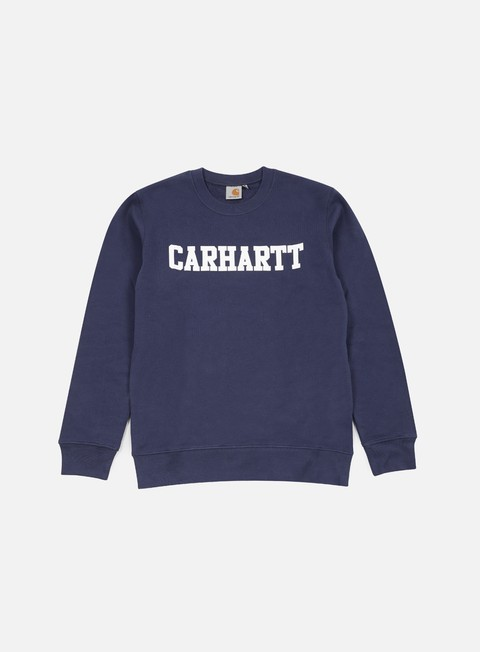 felpe carhartt college sweatshirt blue white