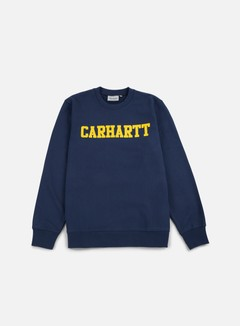 Carhartt - College Sweatshirt, Blue/Yellow