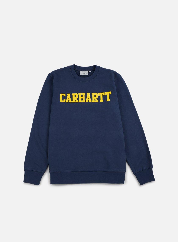 Carhartt - College Sweatshirt, Blue/Yellow