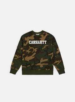 Carhartt - College Sweatshirt, Camo Laurel/White