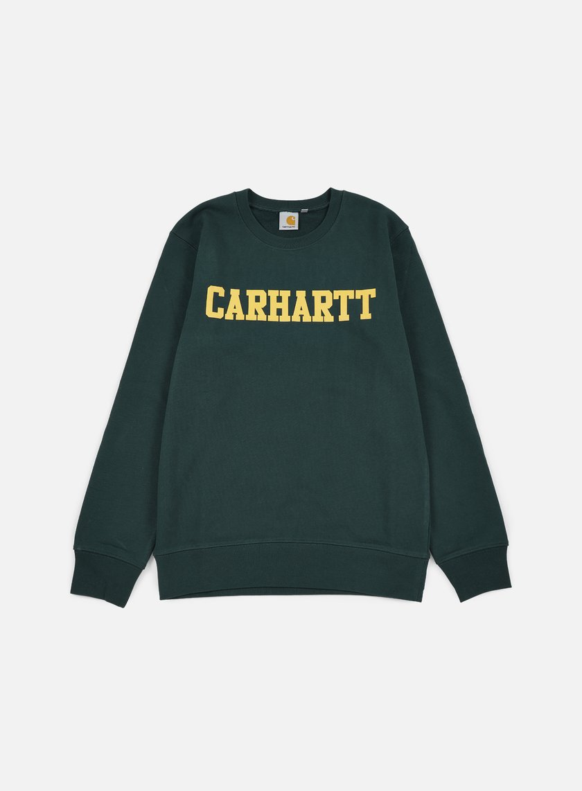 Carhartt - College Sweatshirt, Conifer/Quince