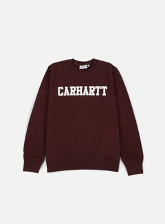 Carhartt - College Sweatshirt, Damson/White