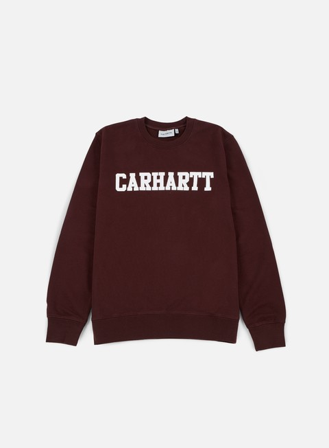 felpe carhartt college sweatshirt damson white