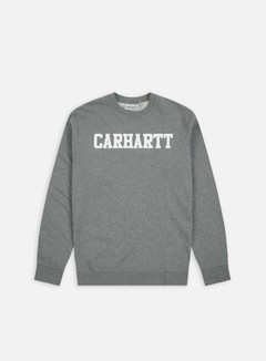 Carhartt - College Sweatshirt, Dark Grey Heather/White