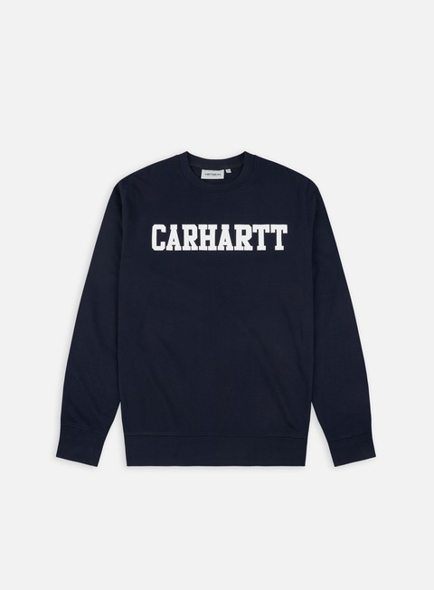 felpe carhartt college sweatshirt dark navy white