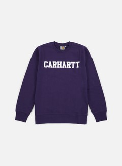 Carhartt - College Sweatshirt, Emperor/White